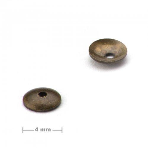 Kaplík ketlovací 4mm staromosaz  10 ks v balení