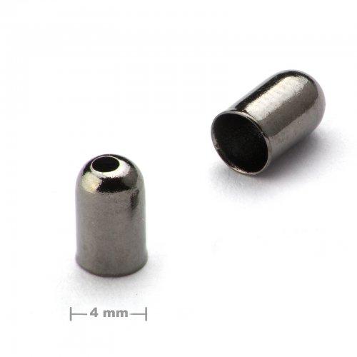Kaplík hladký 4mm antracit  10 ks v balení
