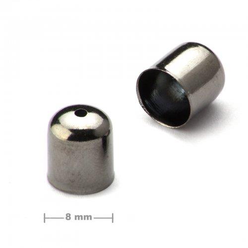 Kaplík hladký 8mm antracit  10 ks v balení
