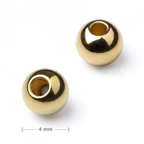 Kovový mezidíl korálek 4 mm zlatý  10 ks v balení