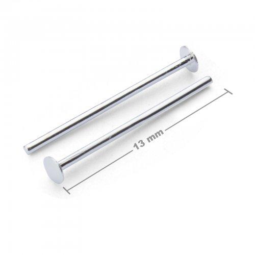 Ketlovací nýtové jehly 13mm stříbrné  10 ks v balení