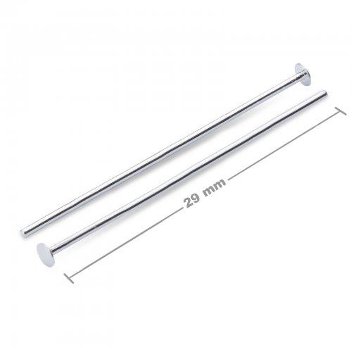 Ketlovací nýtové jehly 29mm stříbrné  10 ks v balení