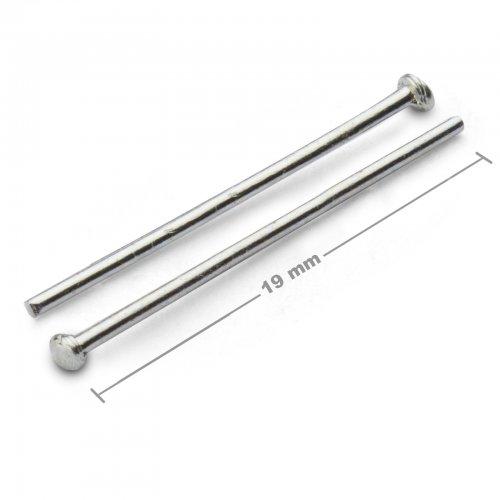 Ketlovací nýtové jehly 19mm platinové  10 ks v balení