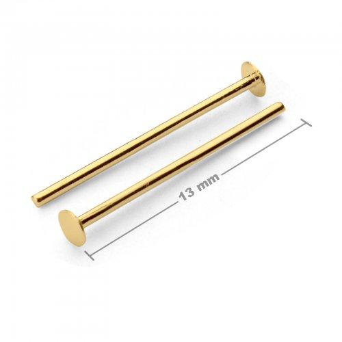 Ketlovací nýtové jehly 13mm zlaté  10 ks v balení