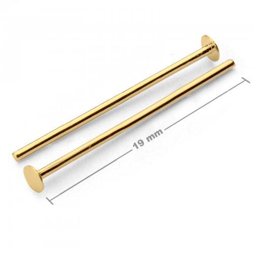 Ketlovací nýtové jehly 19mm zlaté  10 ks v balení