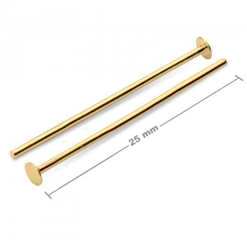 Ketlovací nýtové jehly 25mm zlaté  10 ks v balení