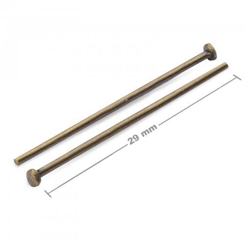 Ketlovací nýtové jehly 29mm staromosaz  10 ks v balení