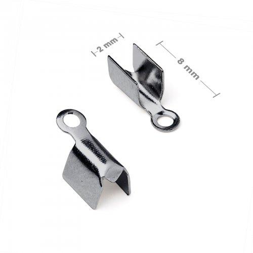Plochá zamačkávací koncovka 2mm antracit  10 ks v balení