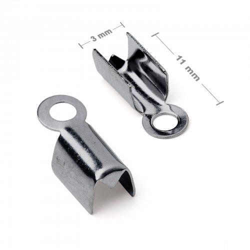 Plochá zamačkávací koncovka 3mm antracit  10 ks v balení