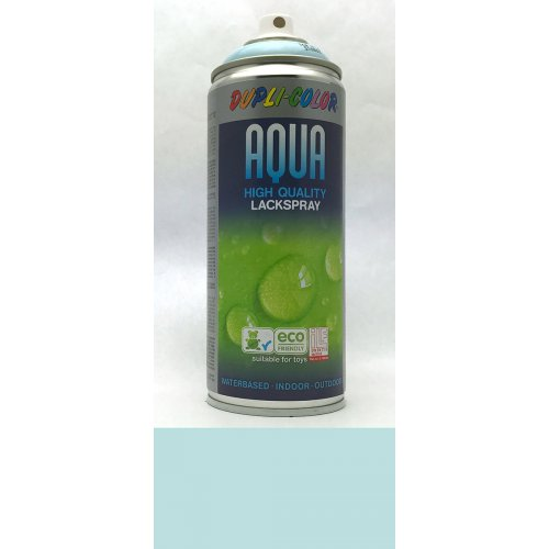Sprej Aqua lak na vodní bázi ledová modrá