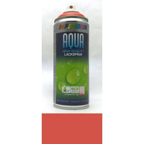 Sprej Aqua lak na vodní bázi ohnivě červená