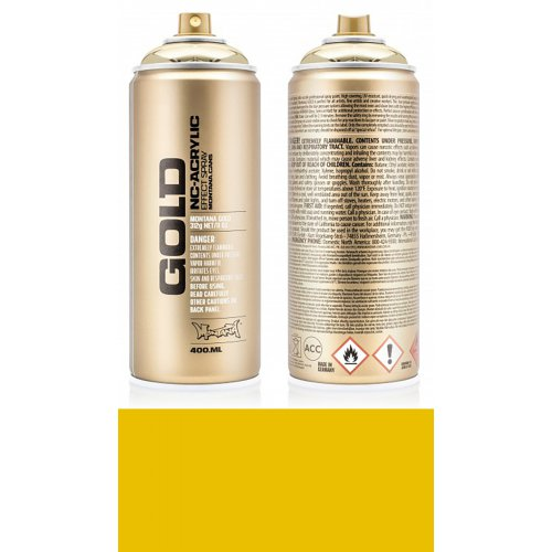 Akrylový sprej Montana Gold 400 ml žlutý banán