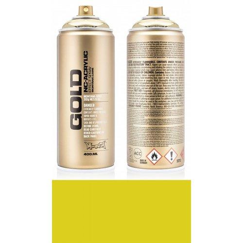 Akrylový sprej Montana Gold 400 ml žlutá banán Joe
