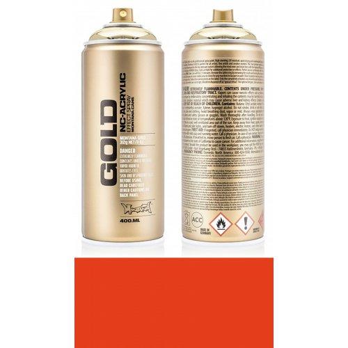 Akrylový sprej Montana Gold 400 ml červenooranžová