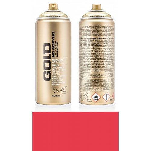 Akrylový sprej Montana Gold 400 ml červená jahoda
