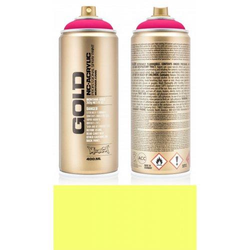 Akrylový sprej Montana Gold 400 ml UV Fluorescent svítivá žlutá