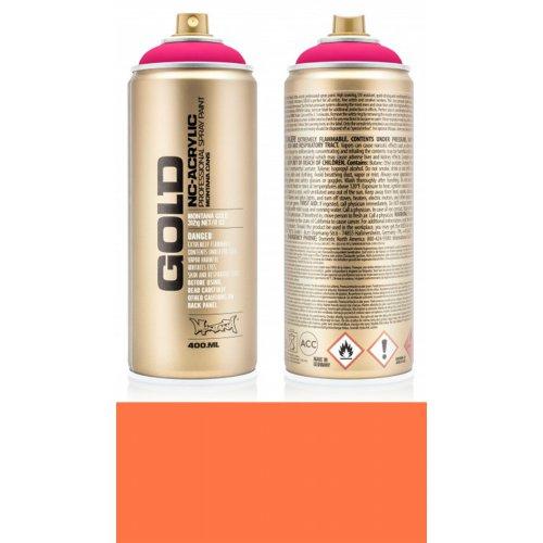 Akrylový sprej Montana Gold 400 ml UV Fluorescent plná oranžová