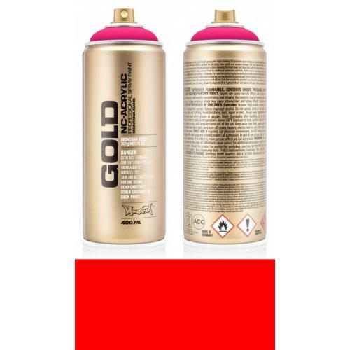Akrylový sprej Montana Gold 400 ml UV Fluorescent ohnivá červená