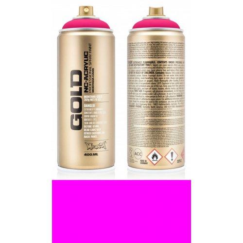 Akrylový sprej Montana Gold 400 ml UV Fluorescent zářivá růžová