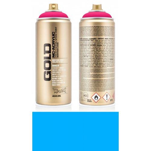 Akrylový sprej Montana Gold 400 ml UV Fluorescent modrý plamen