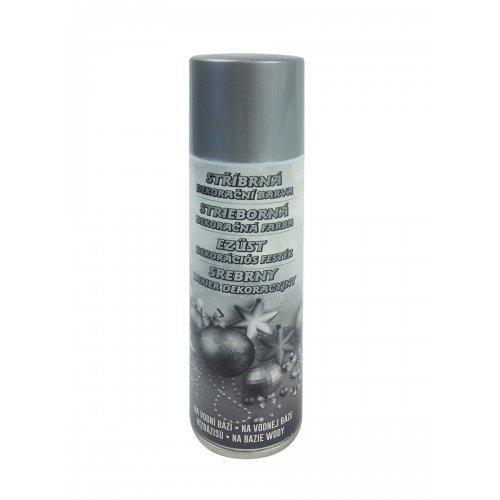 Stříbrná dekorační barva ve spreji 150 ml