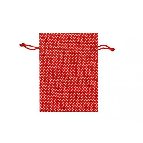 Sáček / puntík 13 x 18 cm červená
