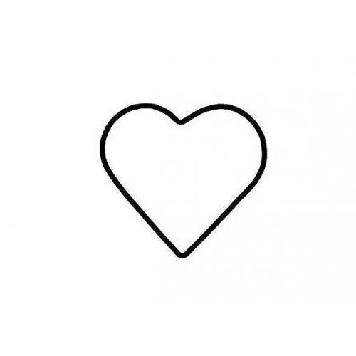 Drátěný základ pro dekorace / Srdce / průměr 10 cm