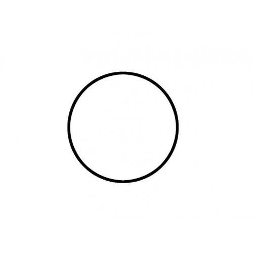 Drátěný základ pro dekorace / Kruh / průměr 20 cm / BÍLÁ