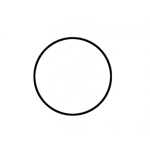 Drátěný základ pro dekorace / Kruh / průměr 25 cm / BÍLÁ