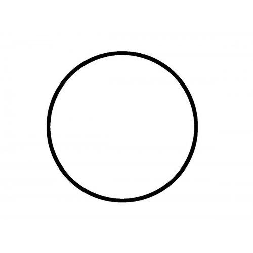 Drátěný základ pro dekorace / Kruh / průměr 30 cm / BÍLÁ