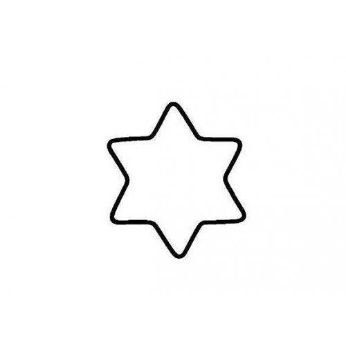 Drátěný základ pro dekorace / Hvězda / průměr 10 cm BÍLÁ