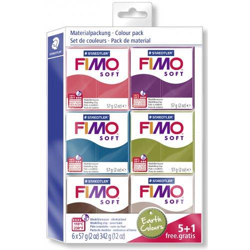 FIMO soft sada 5+1 BARVY ZEMĚ