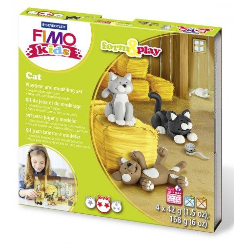 Sada Fimo kids Form & Play Kočky