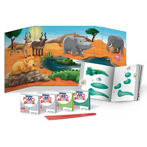 Sada Fimo kids Form & Play Zvířátka z Afriky - 803425-image.jpg