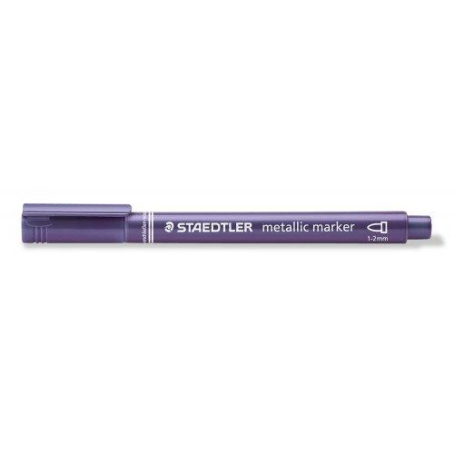 Metalický popisovač fialový STAEDTLER 1-2 mm kuželový hrot