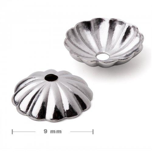 Bižuterní kaplík z chirurgické oceli 316L 9x3 mm - 5 ks v balení