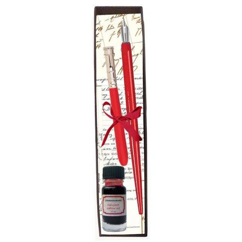 Kaligrafická sada COMBI červený inkoust