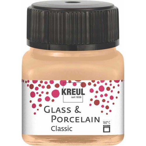 Barva na sklo a porcelán KREUL metalická šampaňská 20 ml