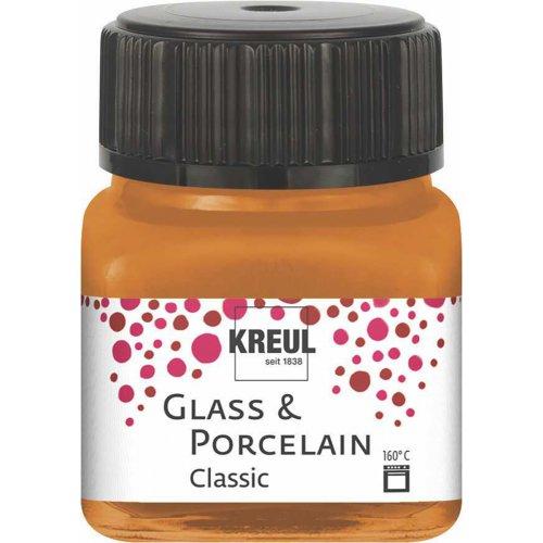 Barva na sklo a porcelán KREUL classic 20 ml METALICKÁ ZLATOBRONZOVÁ