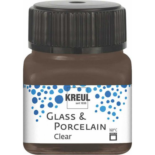 Barva na sklo a porcelán KREUL clear espreso hnědá 20 ml