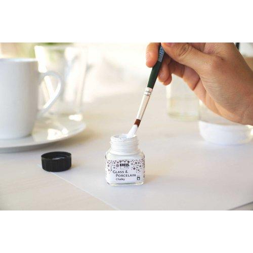 Barva na sklo a porcelán KREUL CHALKY bílá bavlna 20 ml - KREUL_Sklo_a_Porcelan_Chalky_img14.jpg