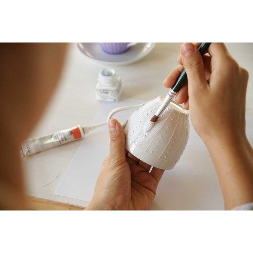 Barva na sklo a porcelán KREUL CHALKY bílá bavlna 20 ml - KREUL_Sklo_a_Porcelan_Chalky_img03.jpg