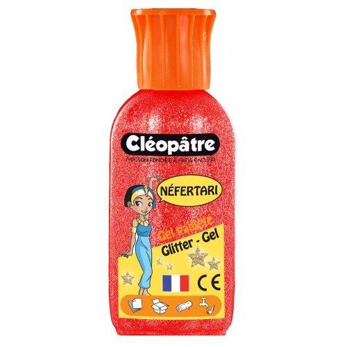 Třpytivý gel Cleopatre 100 ml červený