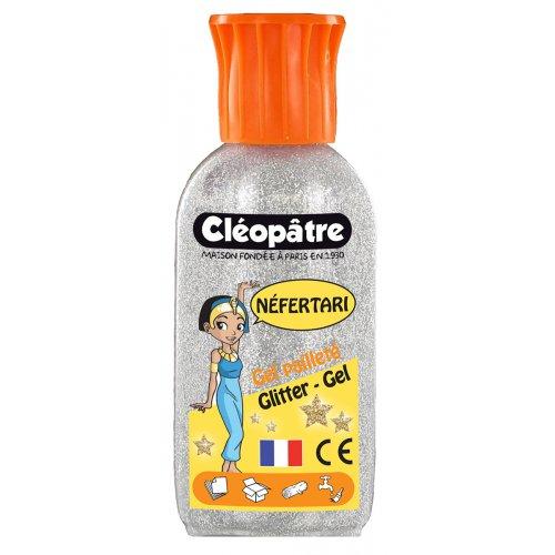 Třpytivý gel Cleopatre 100 ml stříbrný