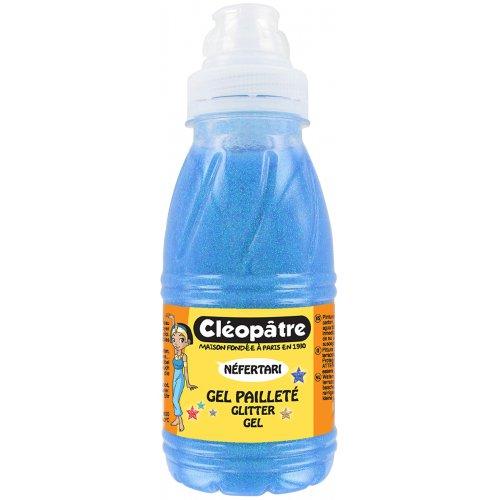 Třpytivý gel Cleopatre 250 ml NEON Modrá