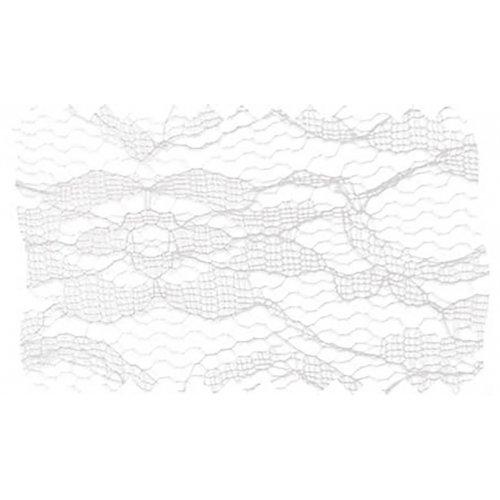 Dekorační krajka BÍLÁ šířka 210 mm - 5 m