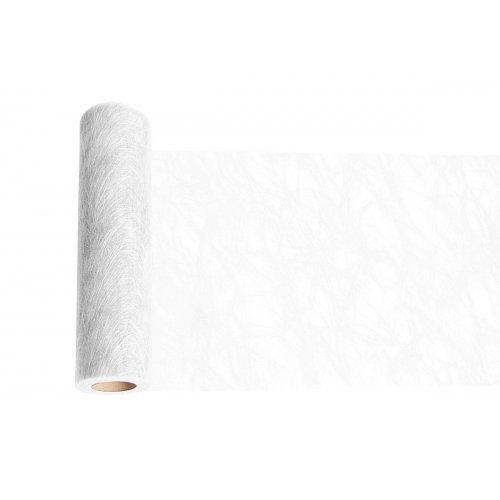 Dekorační stuha flísová stolní BÍLÁ šířka 300 mm