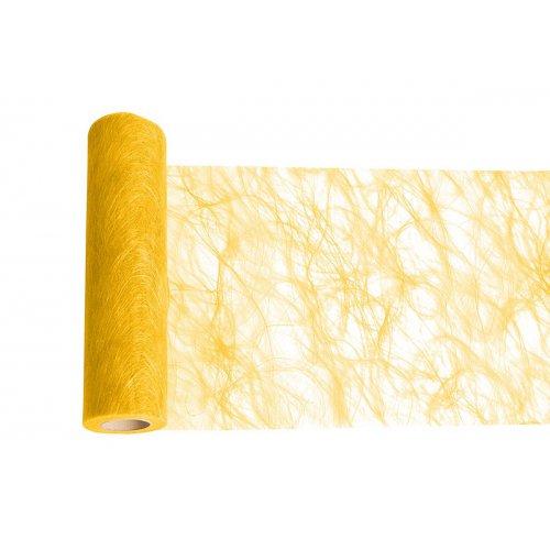 Dekorační stuha flísová stolní ŽLUTÁ šířka 300 mm