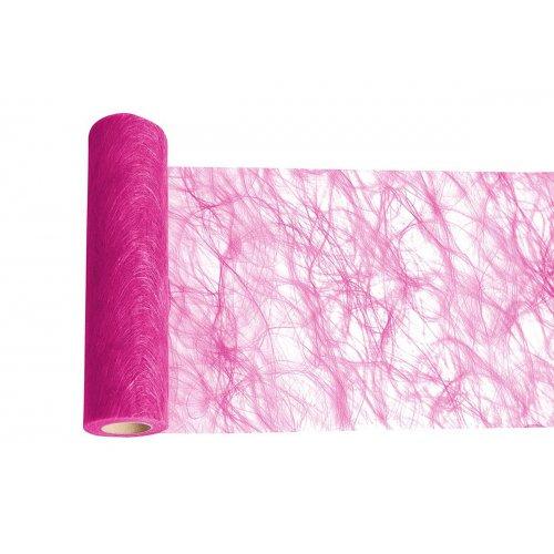 Dekorační stuha flísová stolní RŮŽOVÁ šířka 300 mm