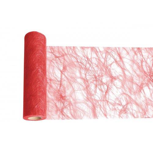 Dekorační stuha flísová stolní ČERVENÁ šířka 300 mm